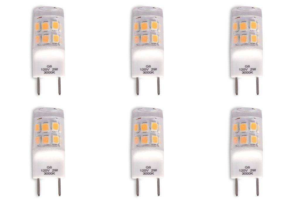 G8 Jcd T4 17x 2835 2 Watt Led Puck Light Bulb 120 Volt Halogen Under Cabinet Replacement 6 Pack Lowvoltage Energysaving Led Puck Lights Bulb Puck Lights