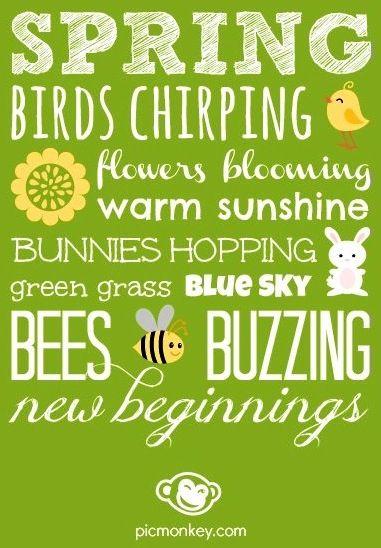 Spring words via www.PicMonkey.com