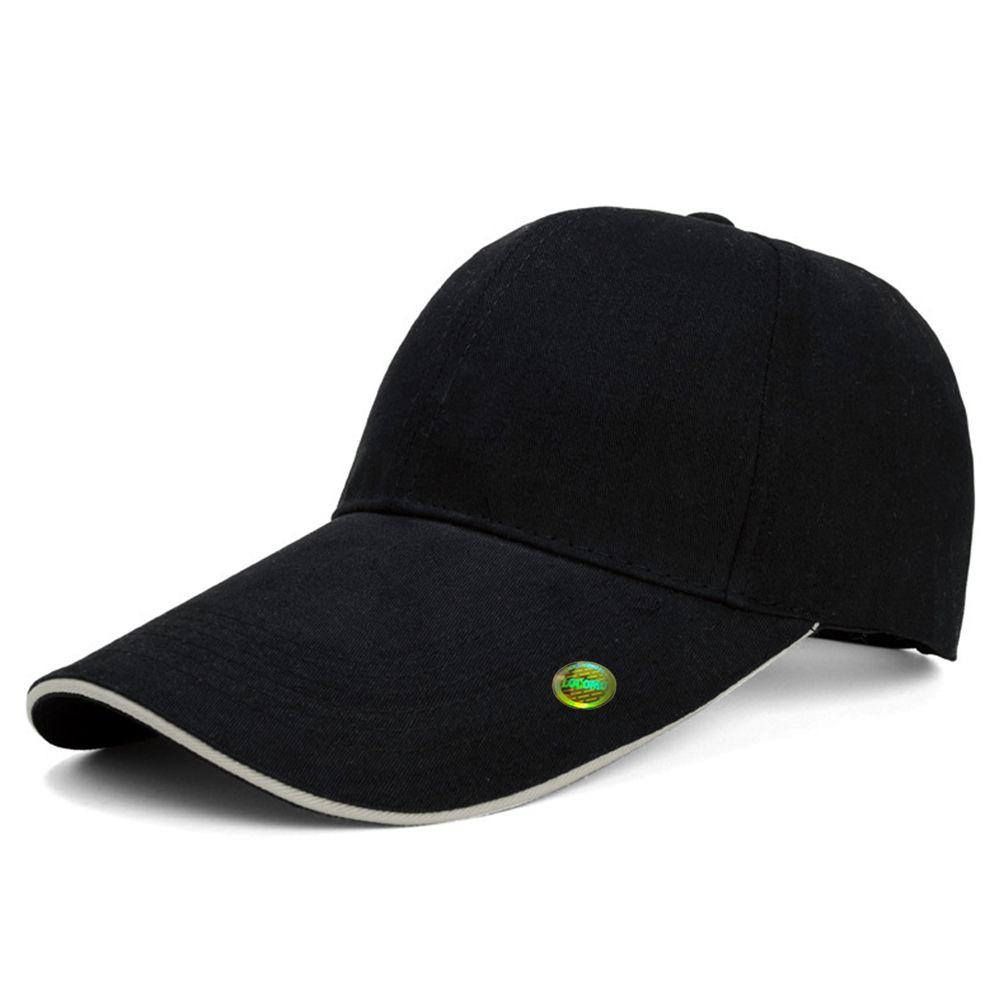 5589594b Men Women Plain Color Super Extra Long Bill Baseball Cap Black ...