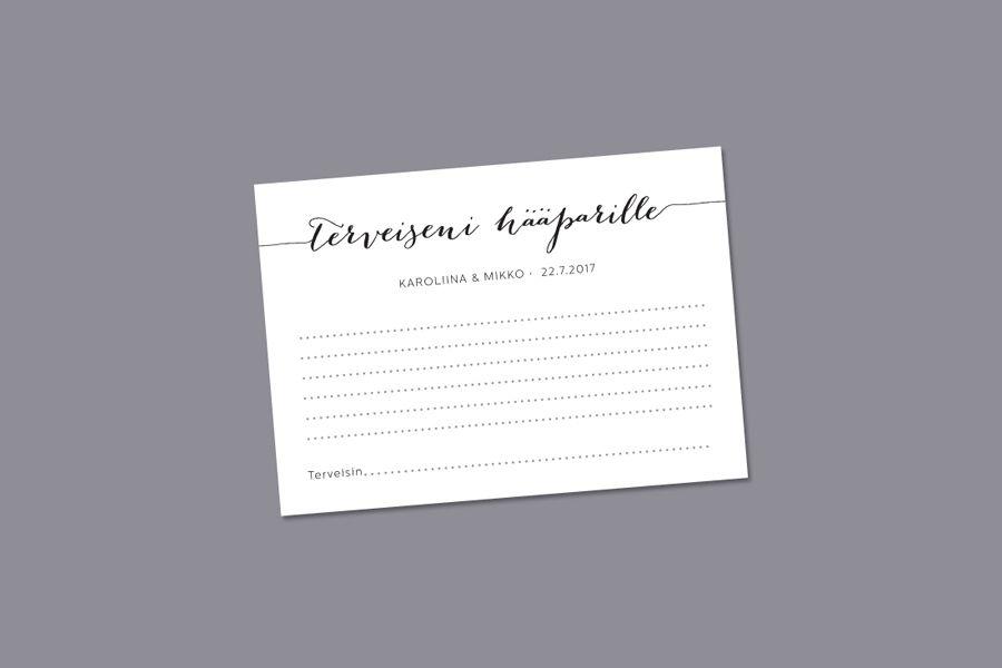 Vieraskirjakortti - Hinnat: 25e   Koko 105x148   MakeaDesign valmismallisto