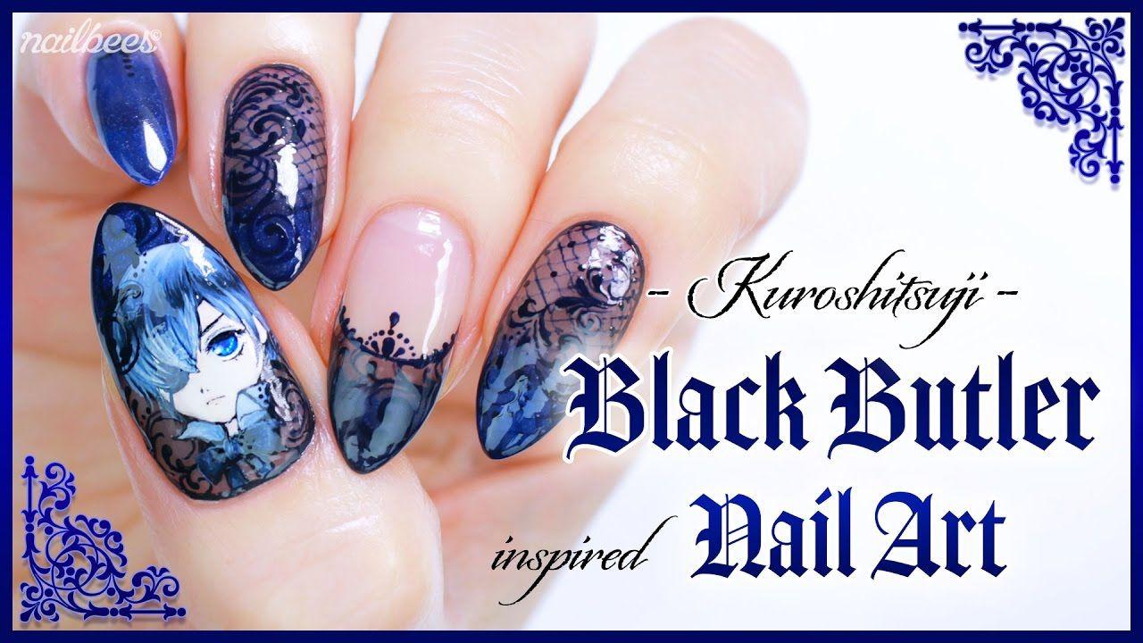 ♡ Black Butler Inspired Nail Art ♡ + Happy Halloween ☆ | Nails ...