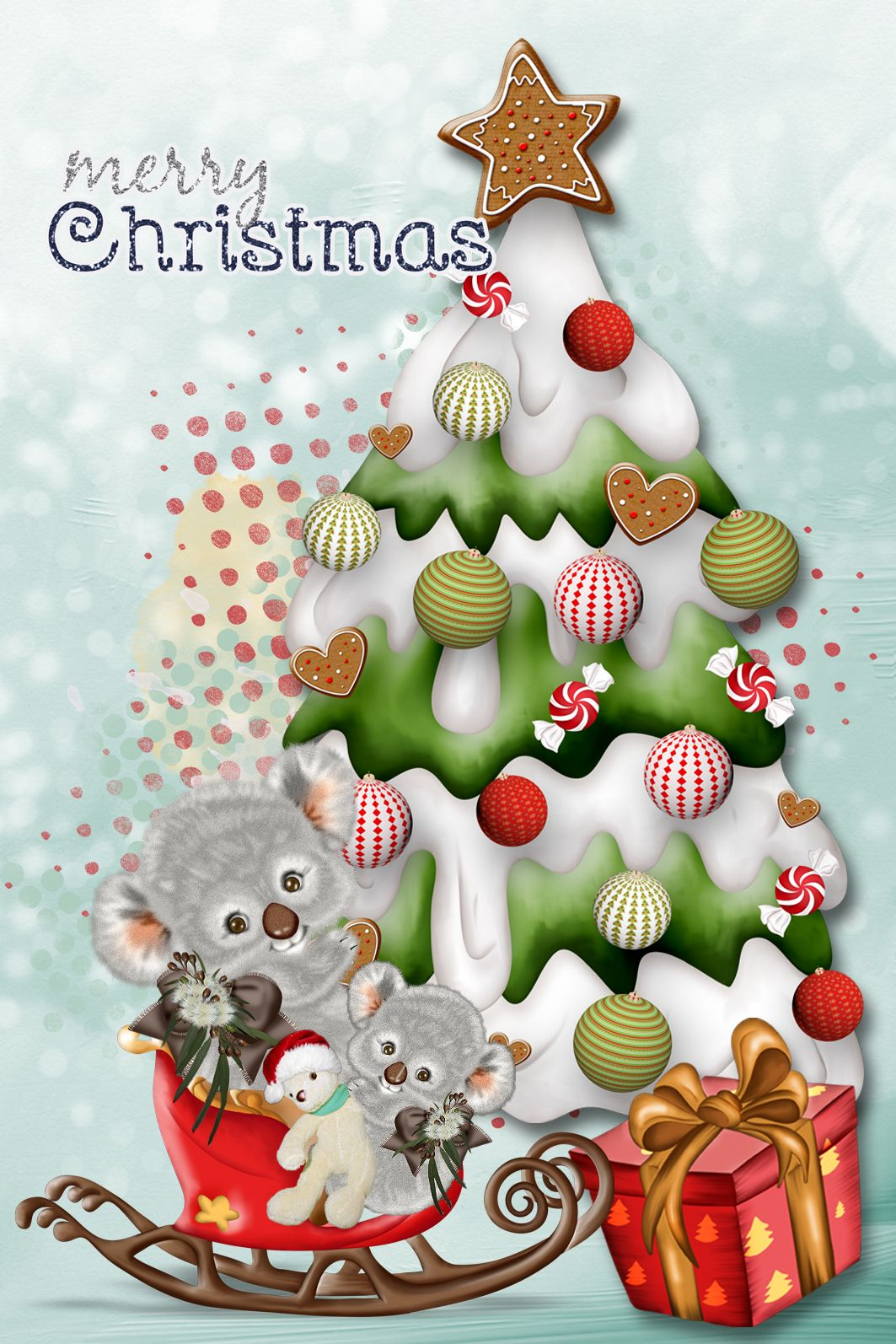 Cute koala christmas card birthday pics for cards pinterest cute koala christmas card kristyandbryce Gallery