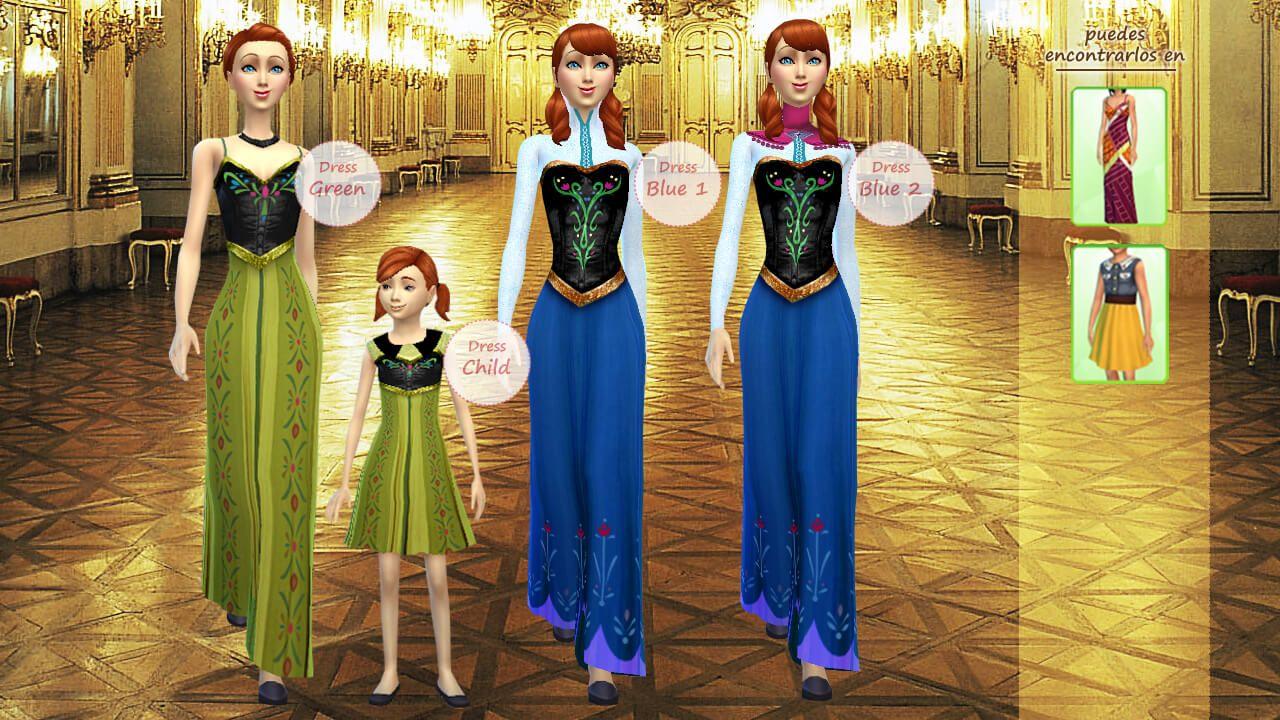 disney collection frozen anna los sims 4 sims4 disney princess pinterest sims 4 und. Black Bedroom Furniture Sets. Home Design Ideas
