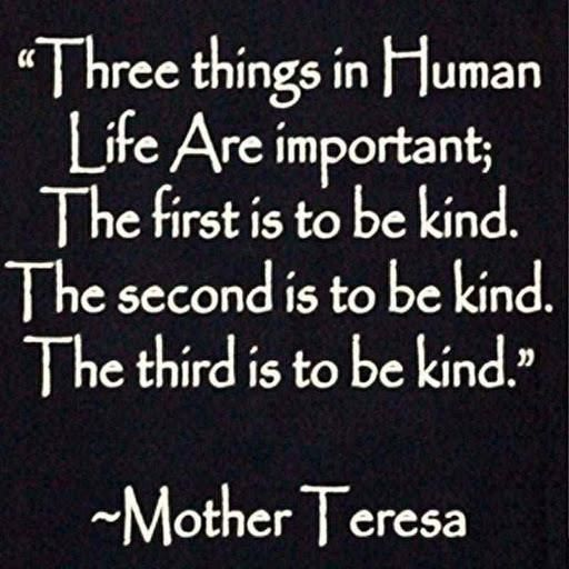 Three Things In Human Life Are Important The First Is To Be Kind