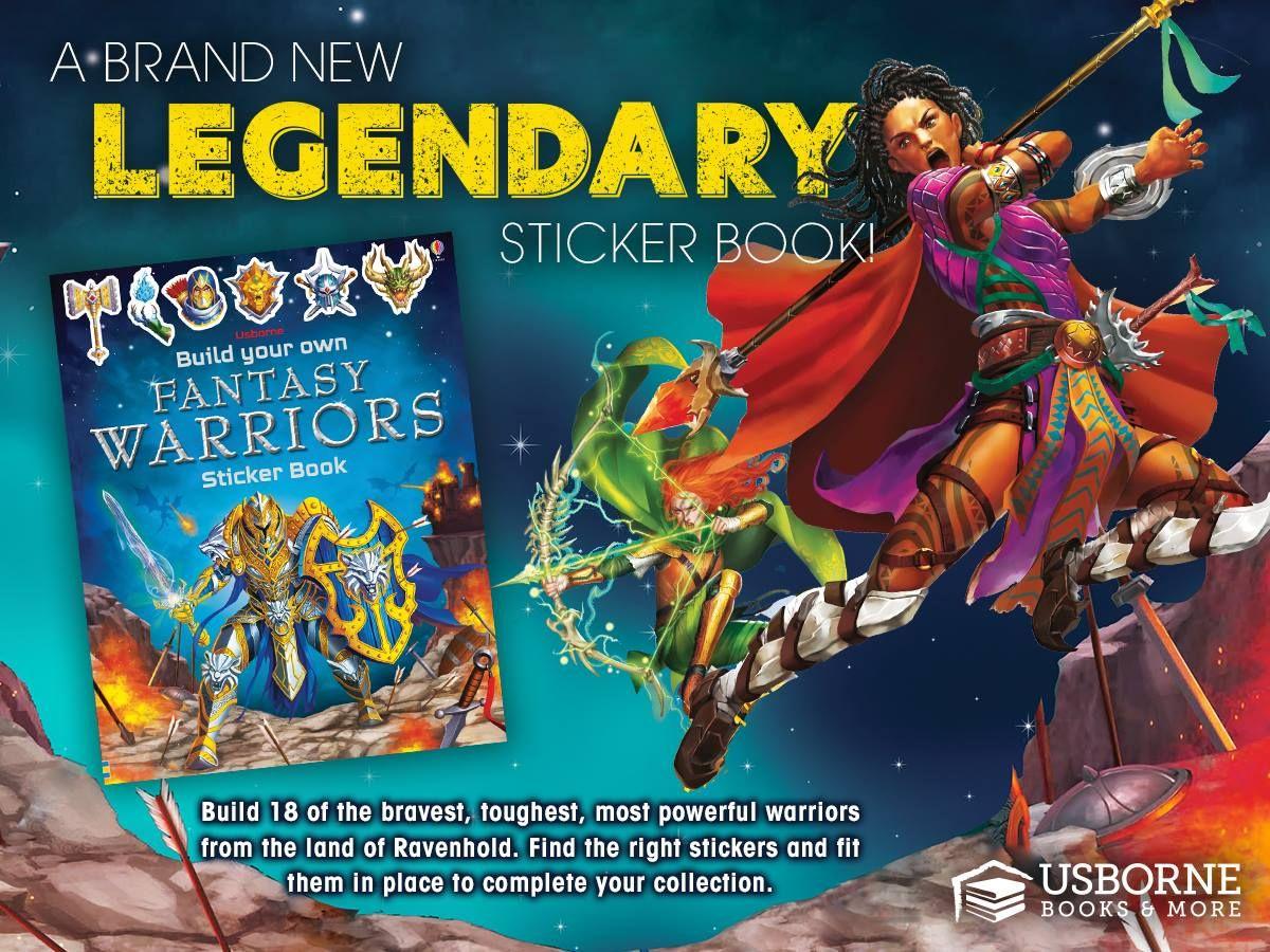 Build your own fantasy warriors sticker book usborne
