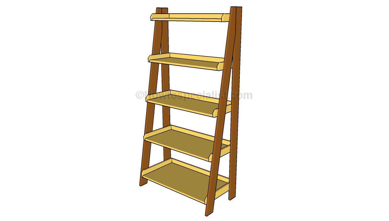 Ladder Shelves Plans To Make Pinterest Ladder Shelves And