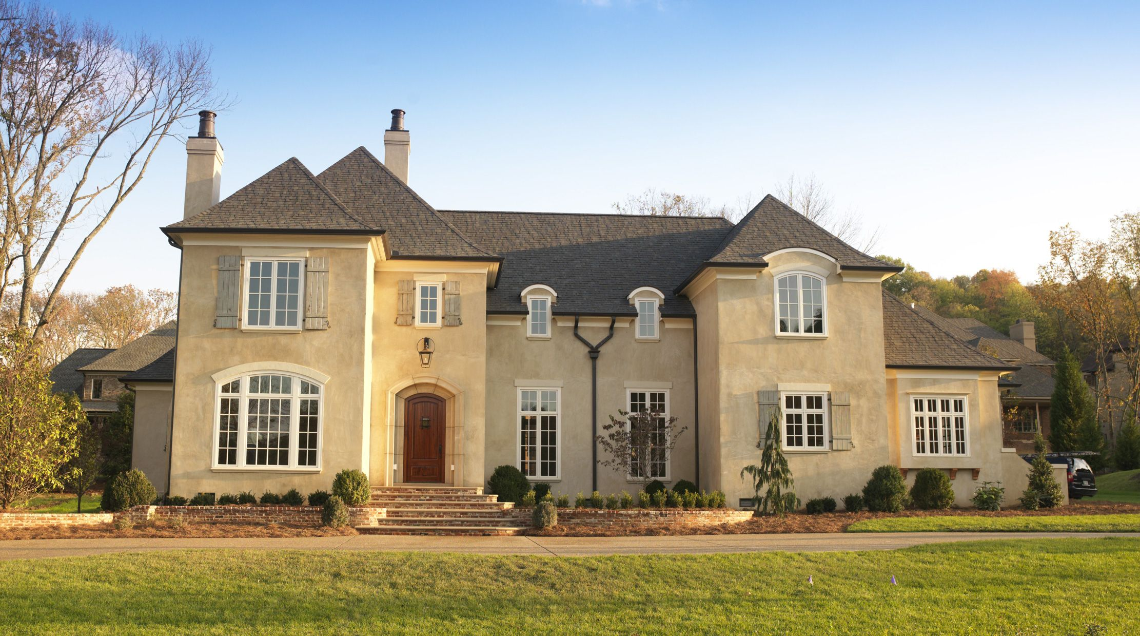 French Country Home Plans Stucco Exterior Pinterest