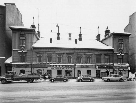 Hämeentie 3 vuonna 1966 (Kuva Hgin kaupunginmuseo, B. Möller)