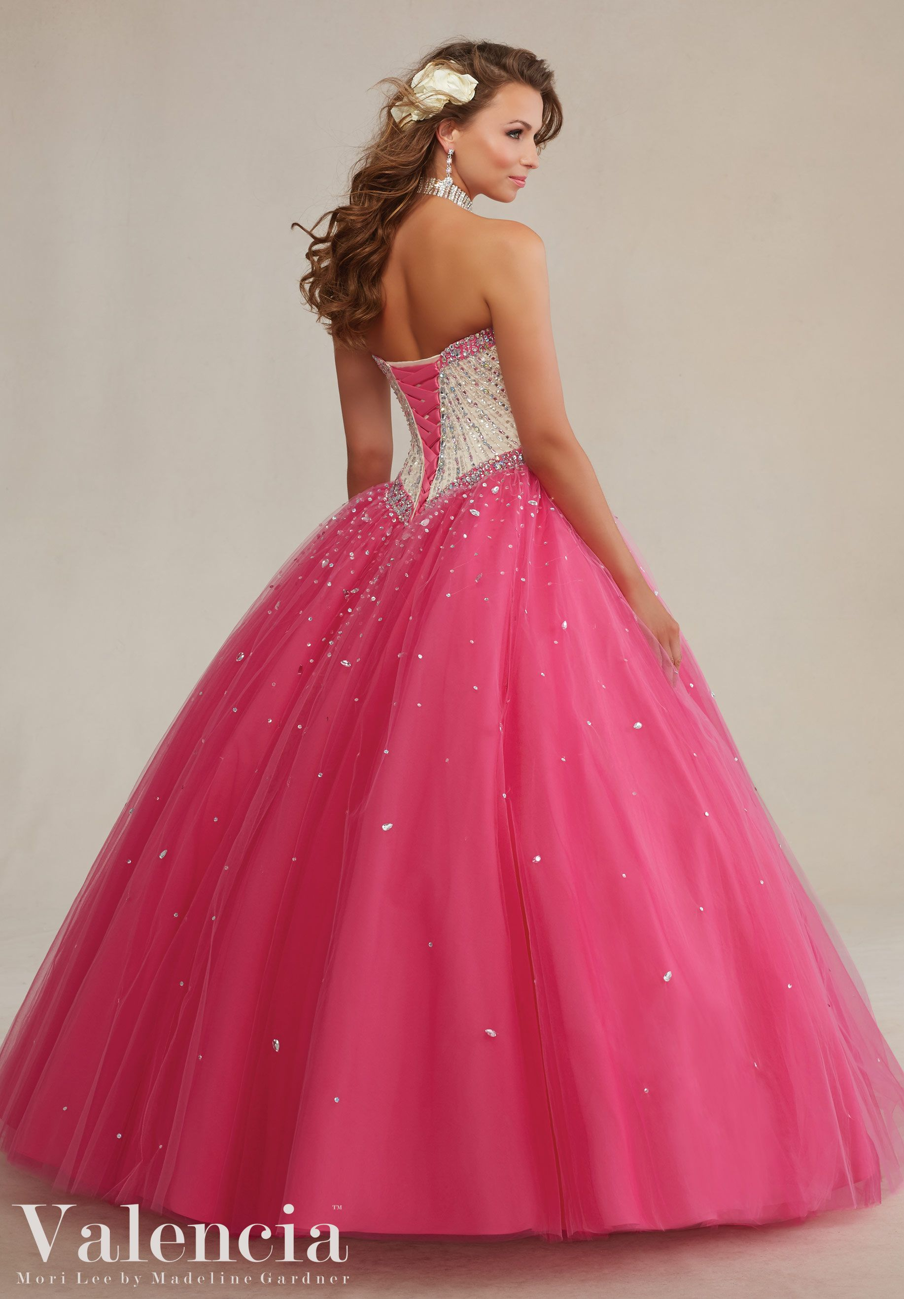 Pink Layered Tulle with Beading Quinceanera Dress by Valencia ...