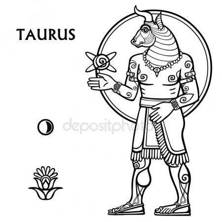 Descargar - Signo del zodiaco Tauro. Crecimiento completo. Arte del ...