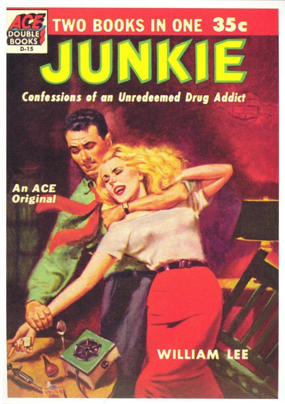 Junkie Wall art. Reproduction poster Vintage pulp book cover