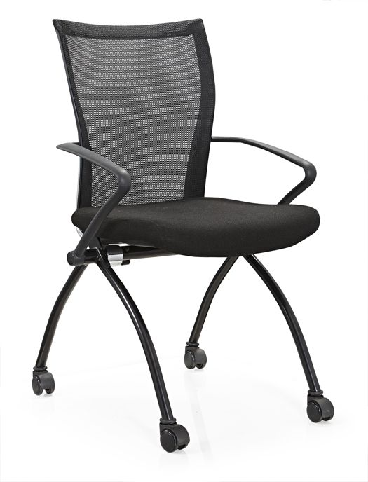 metal folding conference chair with wheel conference folding chair