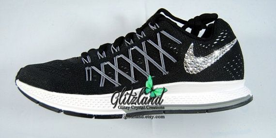 Blinged Women s Nike Air Zoom Pegasus 32- Black  White  0b870693a2