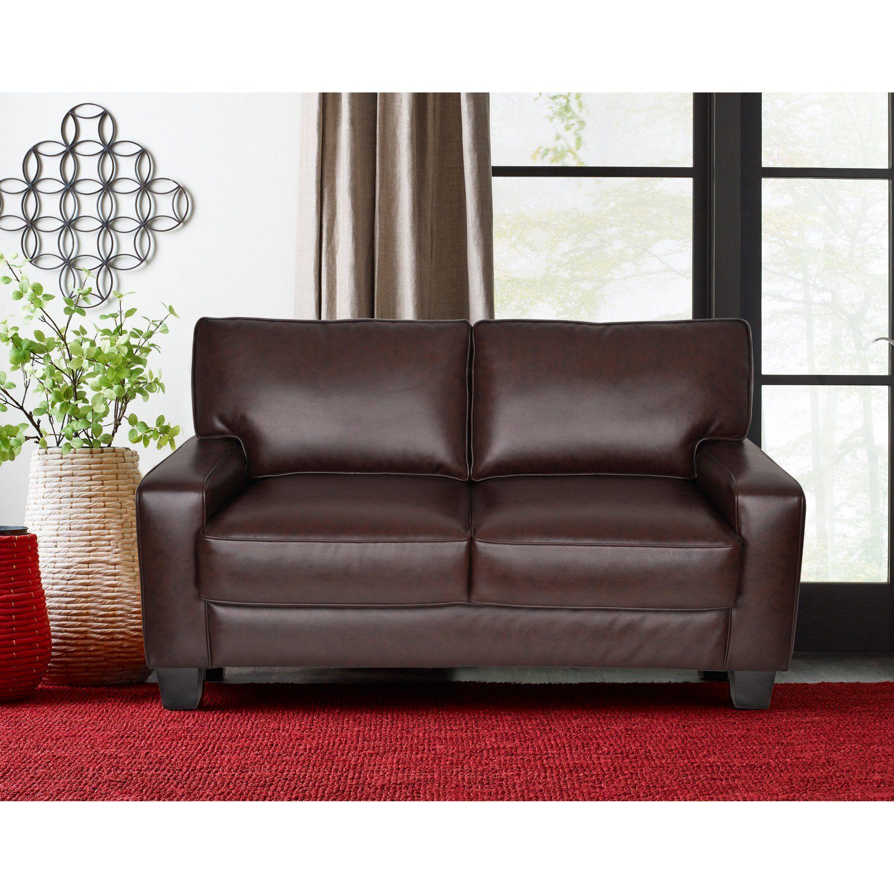 Best Serta Deep Seating Palisades Leather Loveseat Uph200043 400 x 300