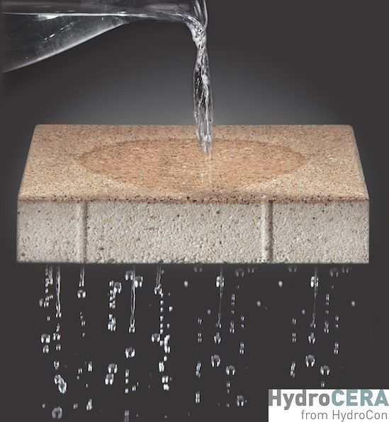 Hydrocera permeable ceramic pavers are fully permeable - Swimming pool evaporation control ...