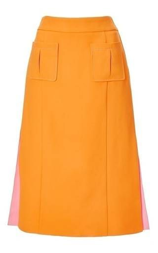 Mimosa rose double face crepe skirt by NINA RICCI Available Now on Moda Operandi