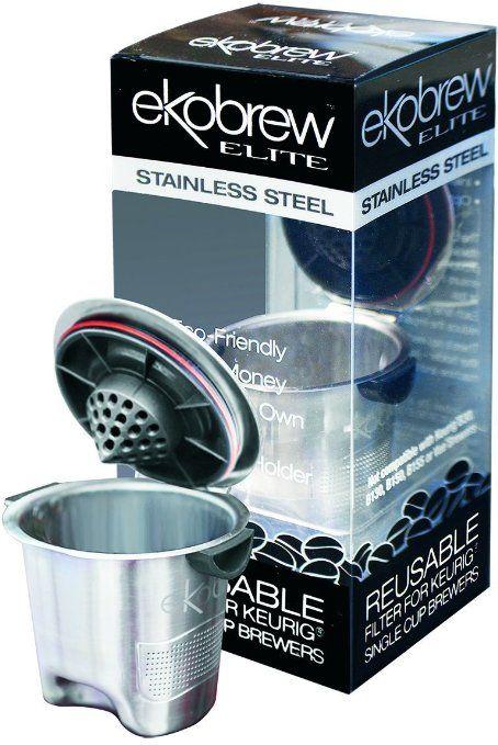 Ekobrew Stainless Steel Elite Refillable K Cup For Keurig K Cup Brewers Amazon Lightning Deal Picks Reusable K Cup Keurig Single Cup Coffee Maker