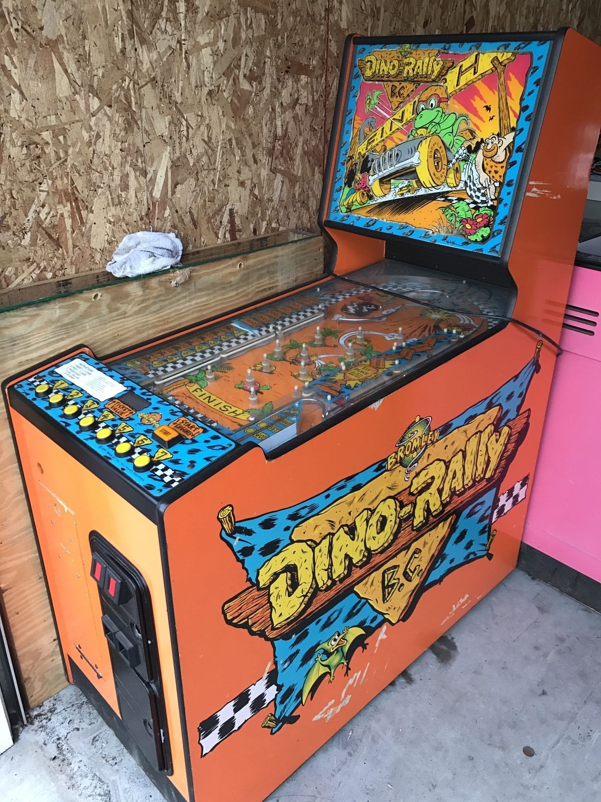Dino Rally Arcade Redemption Game By Bromley vintage
