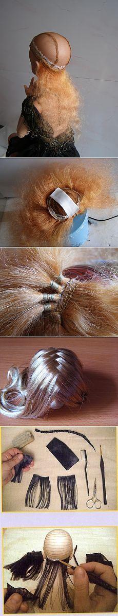 Мастер-класс изготовления парика из волос для куклы / Мастер-классы, творческая мастерская: уроки, схемы, выкройки кукол, своими руками / Бэйбики. Куклы фото. Одежда для кукол