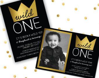 wild one birthday invitation 1st birthday invitation tribal