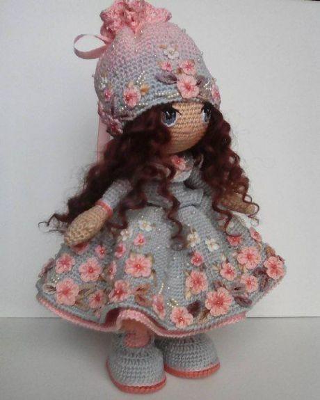 Lovely Tilda Doll Crochet in 2020 | Crochet teddy bear pattern ... | 575x460