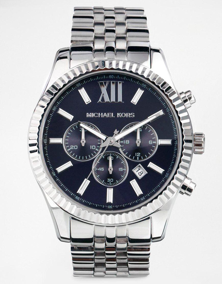85b5bd923c17 Michael Kors MK8280 Watch Lexington Chronograph Silver