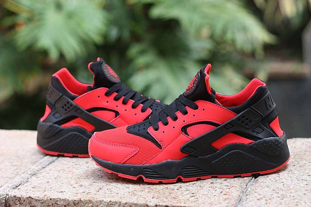 Nike Air Huarache Mens Running Shoes Love Hate Red Black Red