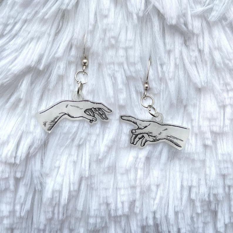 Photo of Creation Of Adam Fishhook Earrings