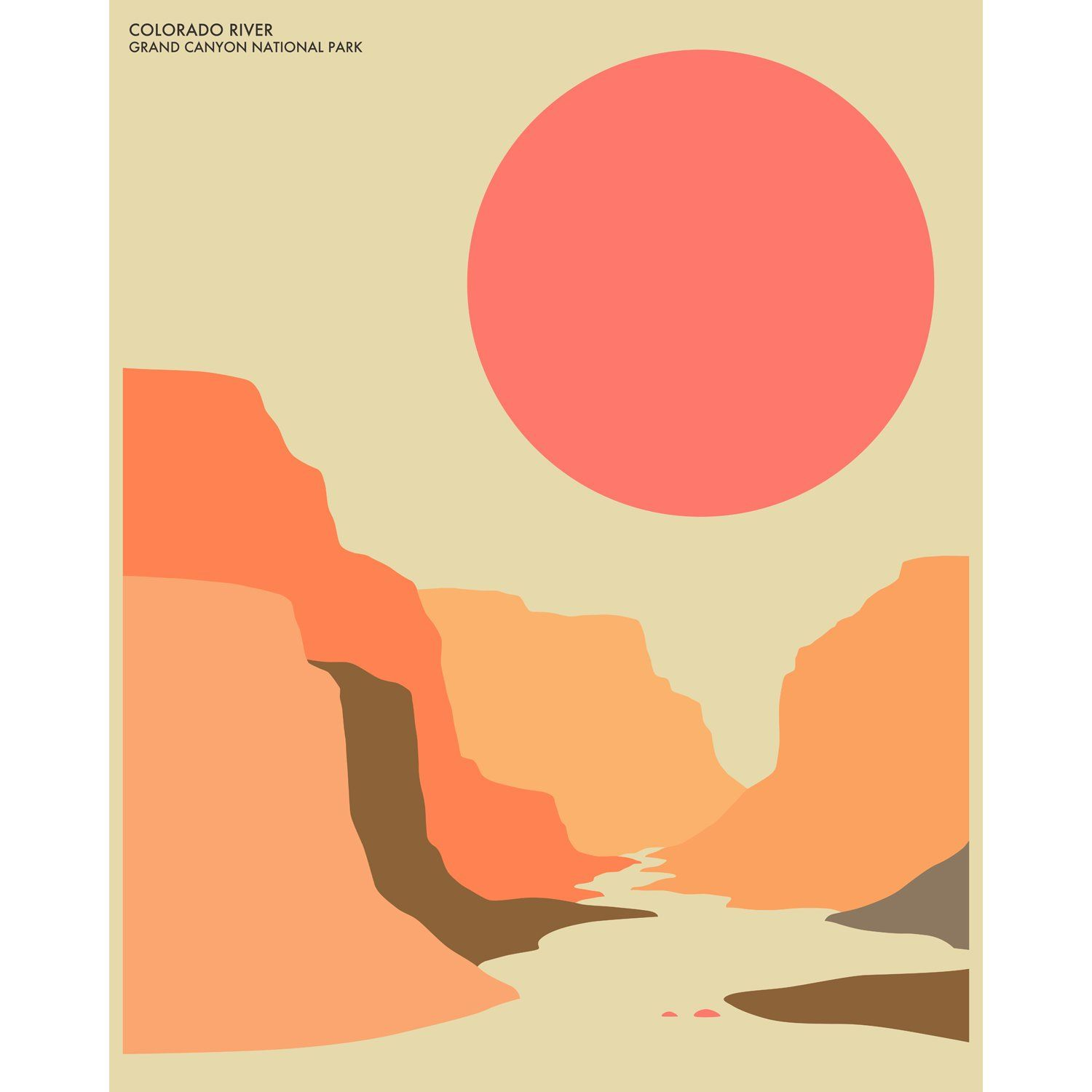 Grand Canyon Graphic Art | home sweet mid century modern home ...