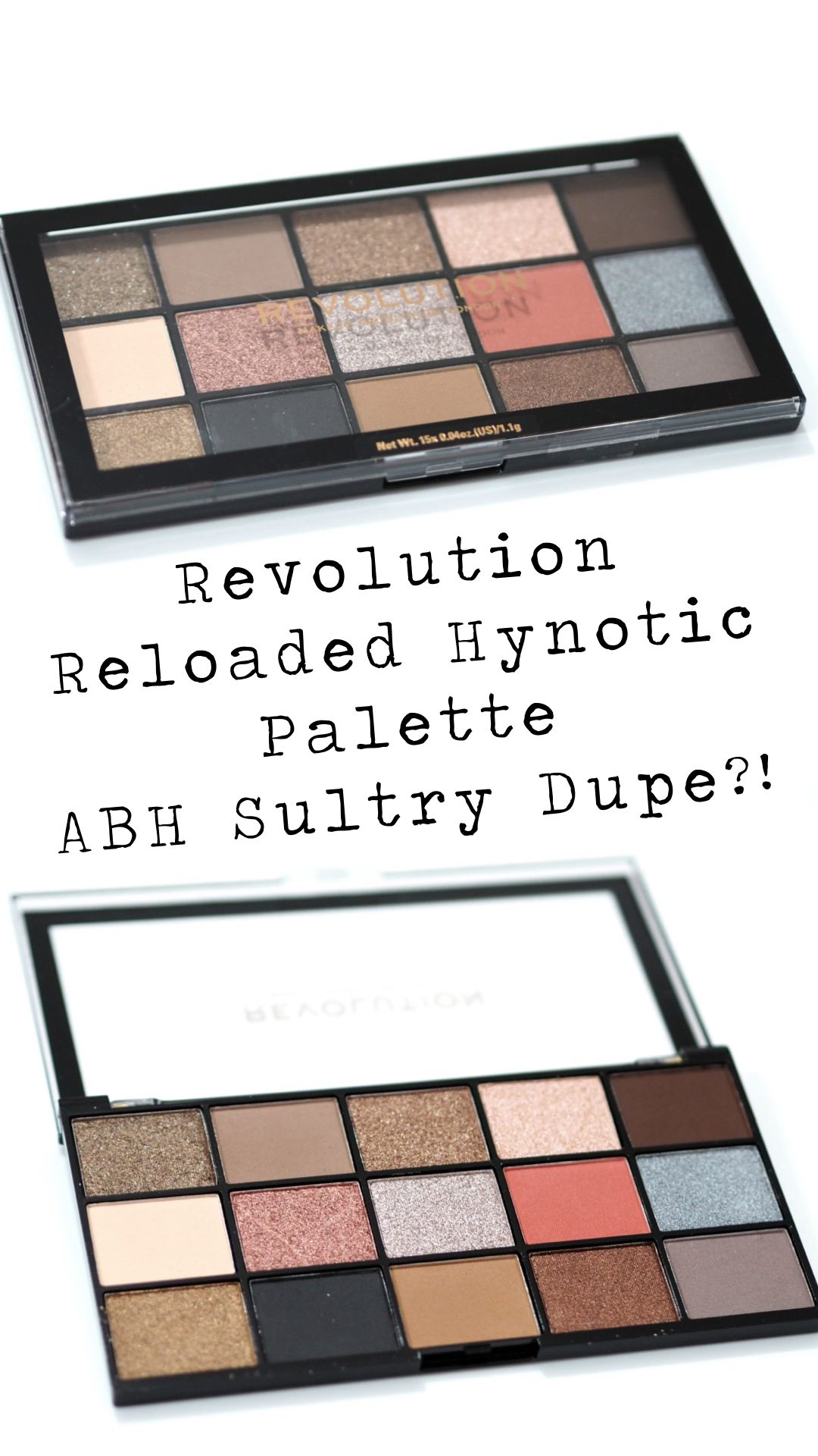 Revolution Reloaded Hypnotic Eyeshadow Palette Review