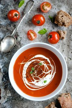 Fancy up your Tomato Soup with some creme fresh!
