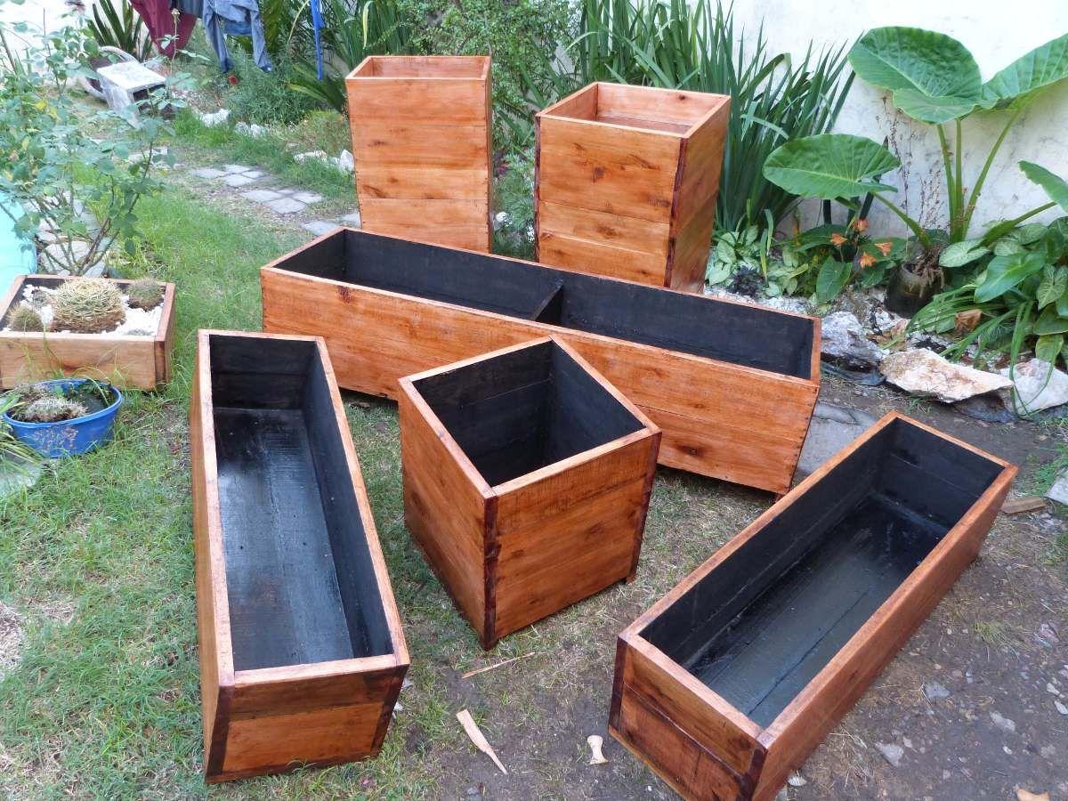 Resultado de imagen para canteros de madera para interior - Maceteros madera exterior ...