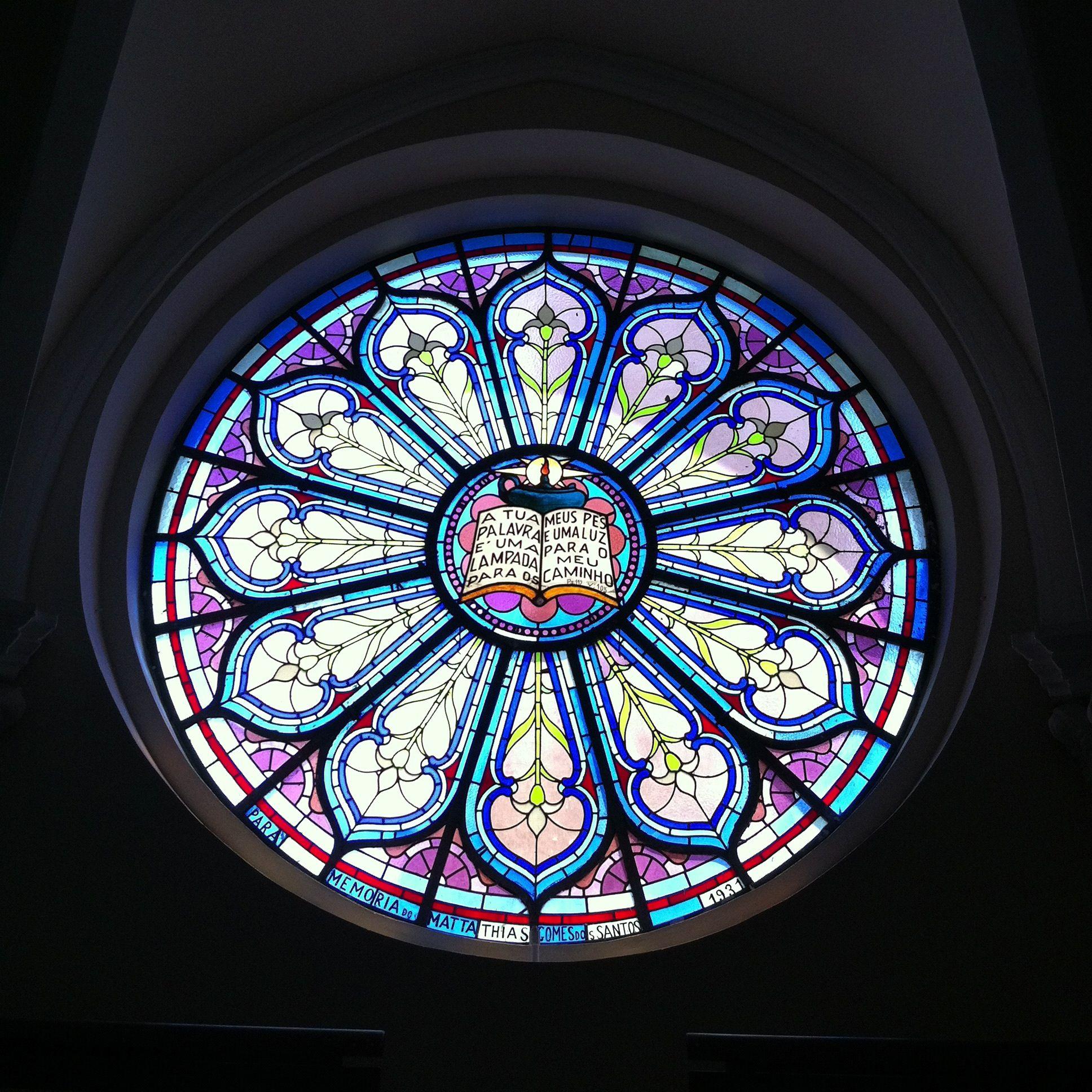 Vitral da Igreja Presbiteriana / © Caio Cal