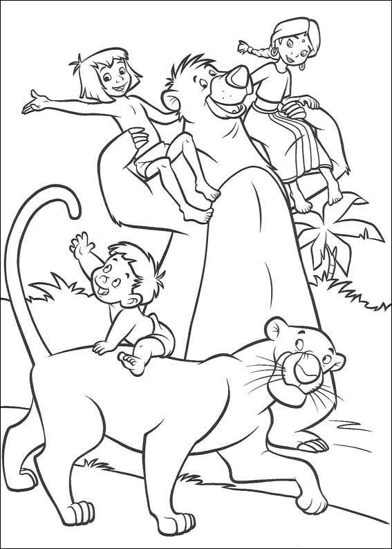 Das Dschungelbuch Ausmalbilder 49 | Baloo | Pinterest | Coloring ...