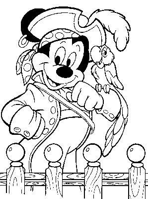Kleurplaten Piraten En Prinsessen.Kleurplaat Piraten Mickey Als Piraat Kleurplaten Disney