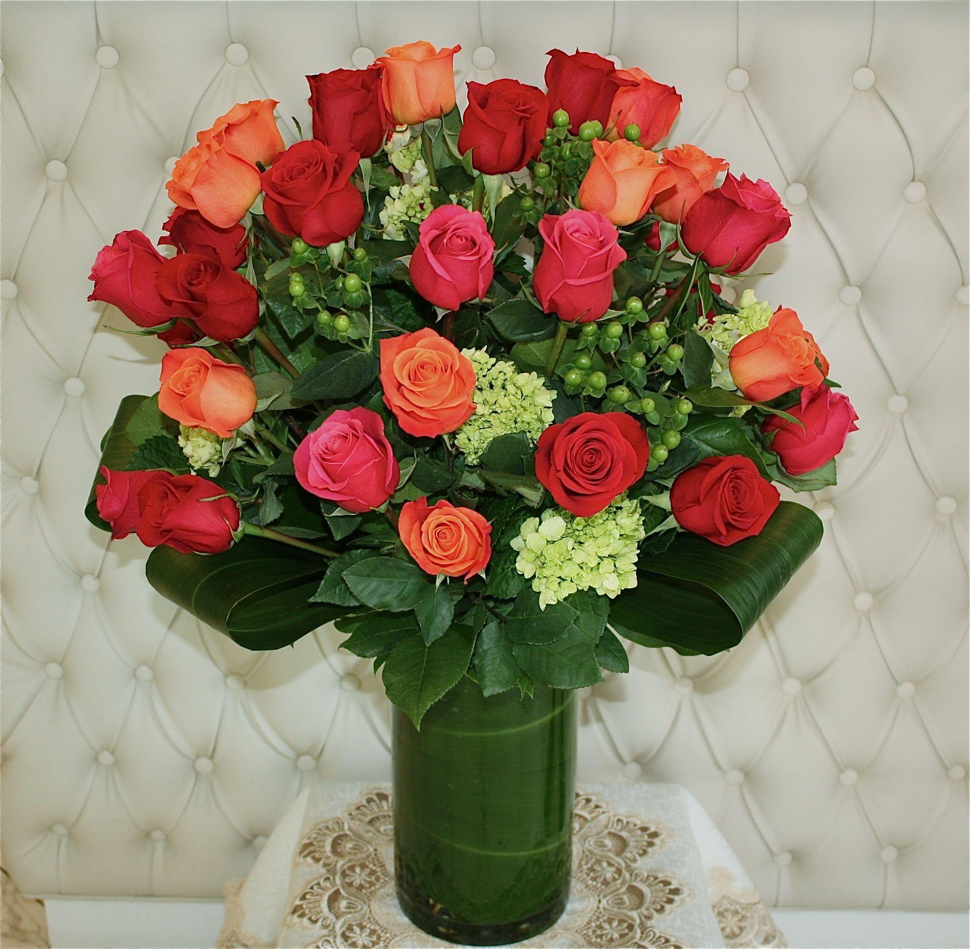 Three Dozen Roses arrangement by Violet's Florist Rose