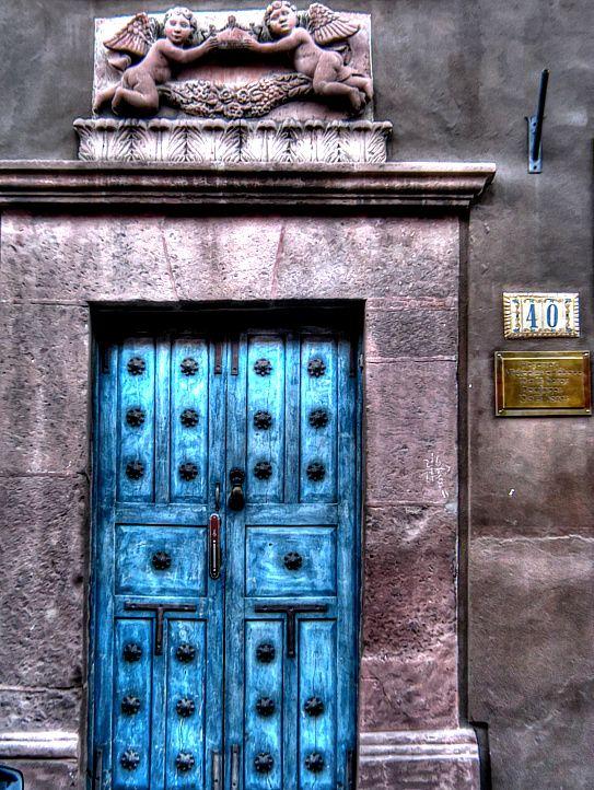 Blue Door, San Miguel de Allende, by neruii
