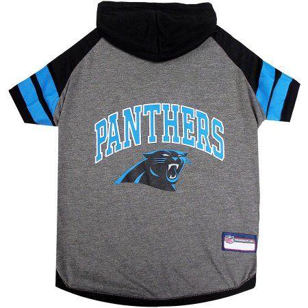 reputable site 99411 4fc02 Pets First NFL Carolina Panthers Pet Hoodie Tee Shirt ...