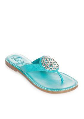 Brighton® Alice Medallion Flat Sandals - Available in Extended Sizes 2lyPQ7DNpR