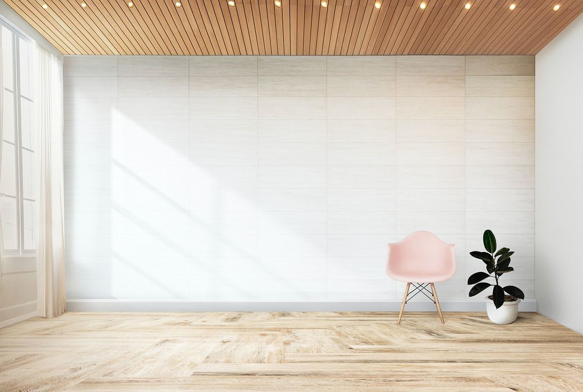 Download Premium Psd Of Pink Chair And A Plant Against A Wall Mockup 580532 Pink Chair Office Chair Design White Desk Design Living room wood background