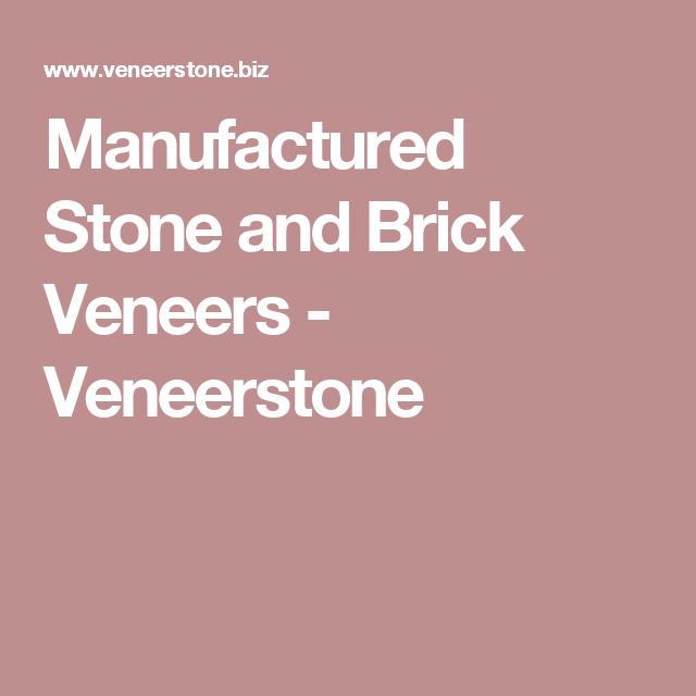 Manufactured Stone and Brick Veneers - Veneerstone