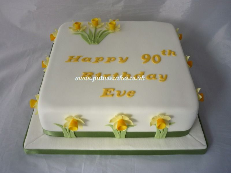 Daffodil Birthday Cake Made For A Very Special Lady Celebrating
