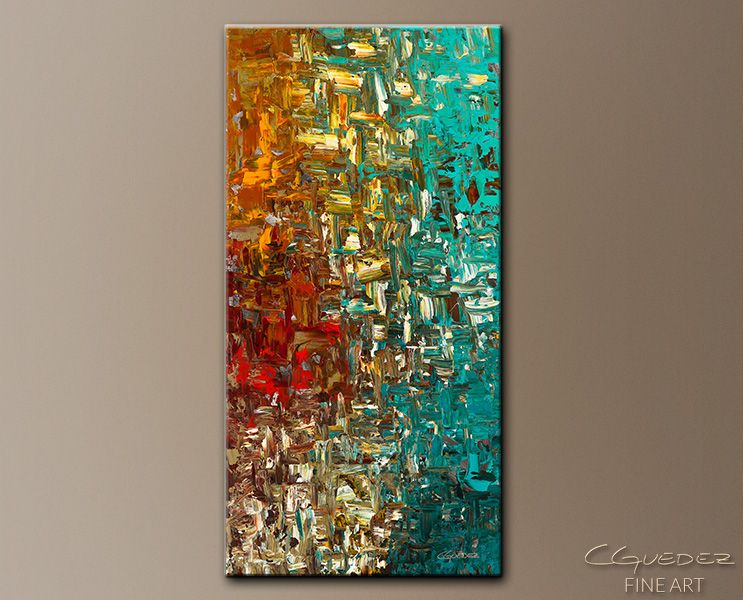 Large Abstract Art Painting For Sale A Moment In Time Fine Canvas Art With Texture Wall Art Ideal For Homes Blues Turquoise Teal Brown Gold Ochre Oran Abstract Art Painting