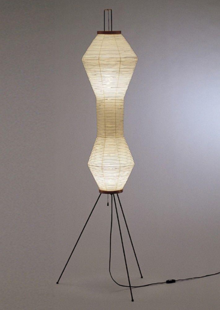 ISAMU NOGUCHI S7178 AKARI Floor Stand Lamp Light with Light Bulb ...