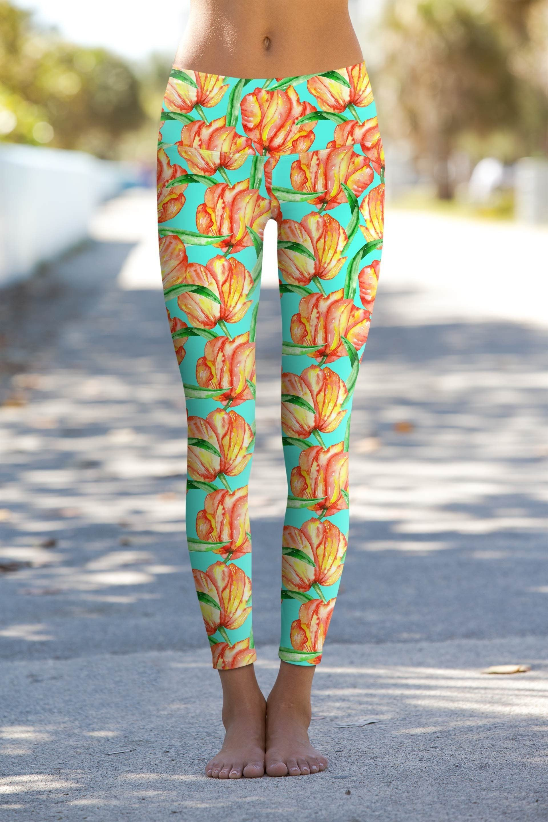 385a632664195 Impulse Lucy Floral Performance Yoga Leggings - Women ...