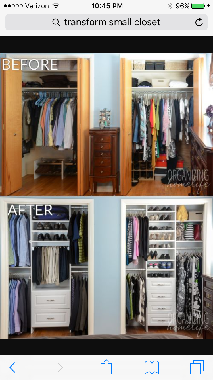 Create 2 Racks In Existing Closet For More Space Bedroom