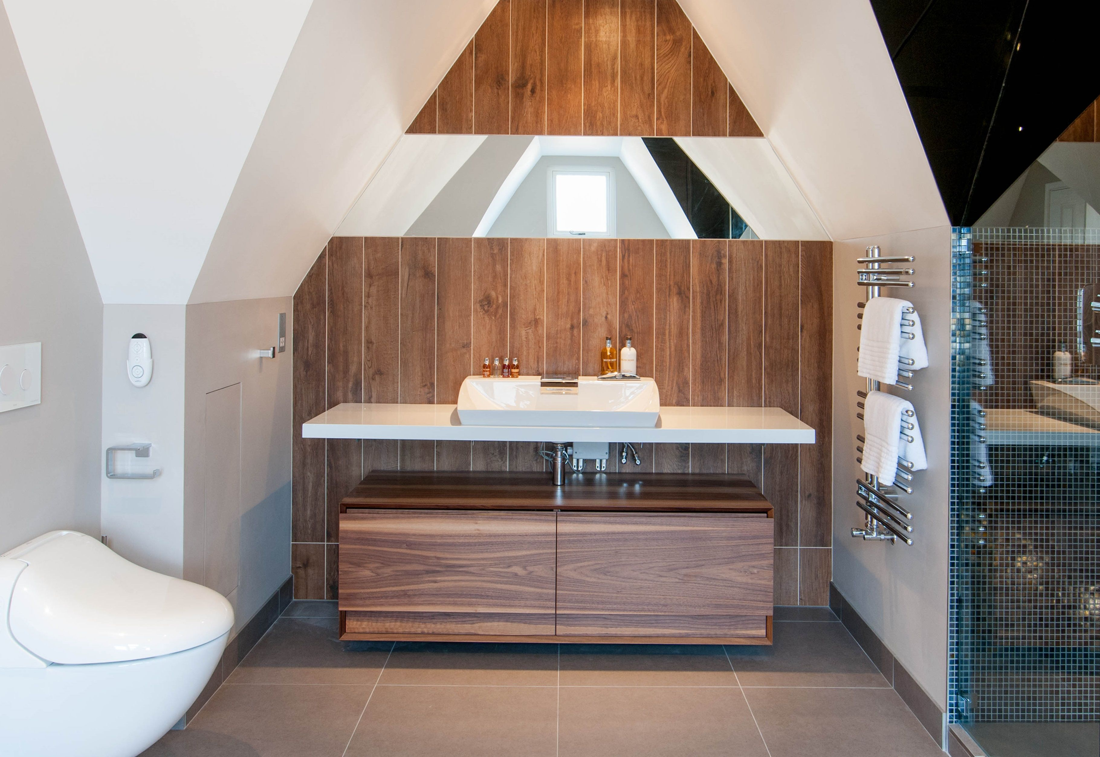Designed by Monita Cheung - Modern bathroom. Toto basin, Toto wall ...
