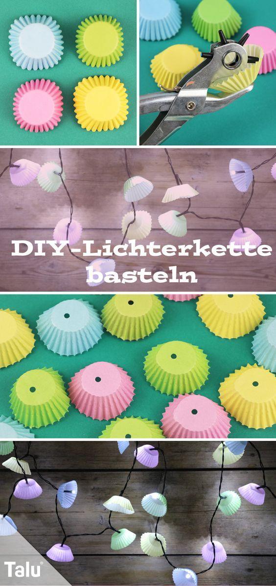 Lichterkette basteln - Anleitung, Schablonen & Ideen für Lampenschirme - Talu.de