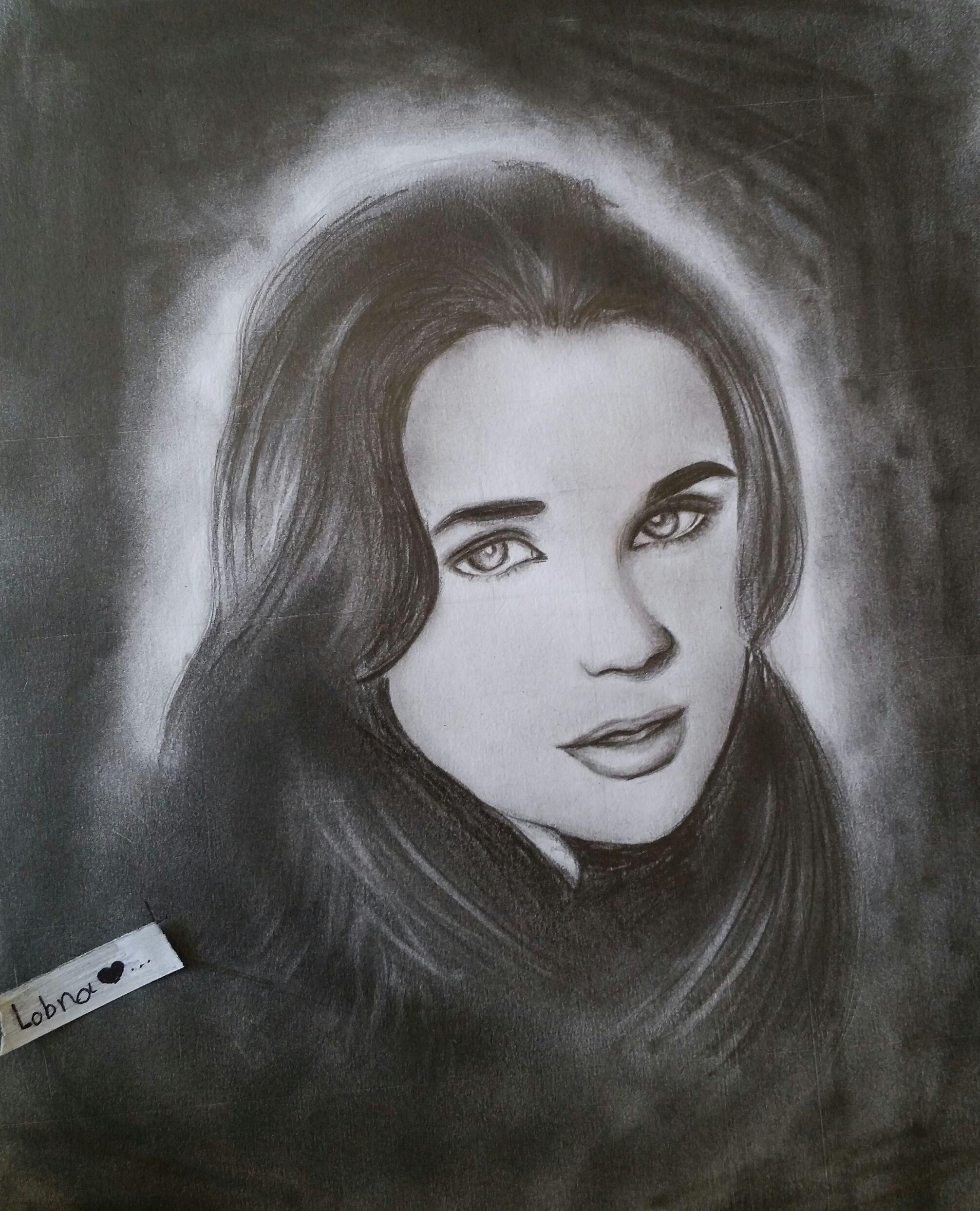 رسم لبنى شاكر رأيكم طفرة جوز Female Sketch Male Sketch Mona Lisa