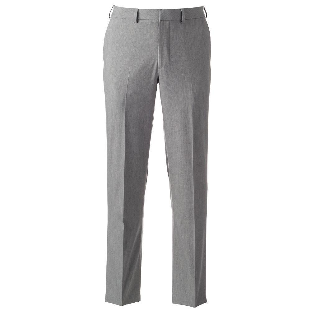 b947c543734e Men s Van Heusen Premium No Iron Straight-Fit Flat-Front Dress Pants ...